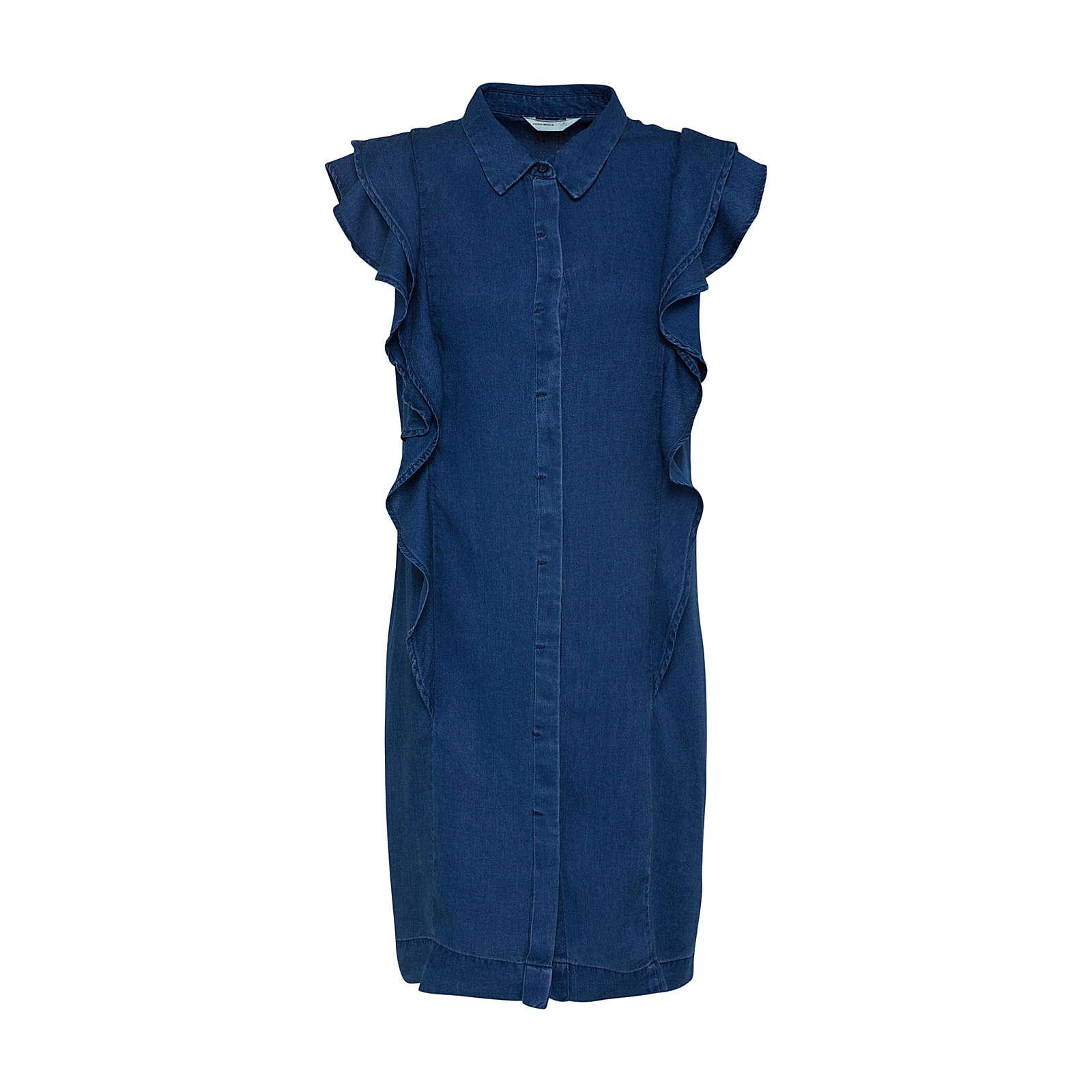 VERO MODA Kleid Jeanskleider blau Damen Gr. 36