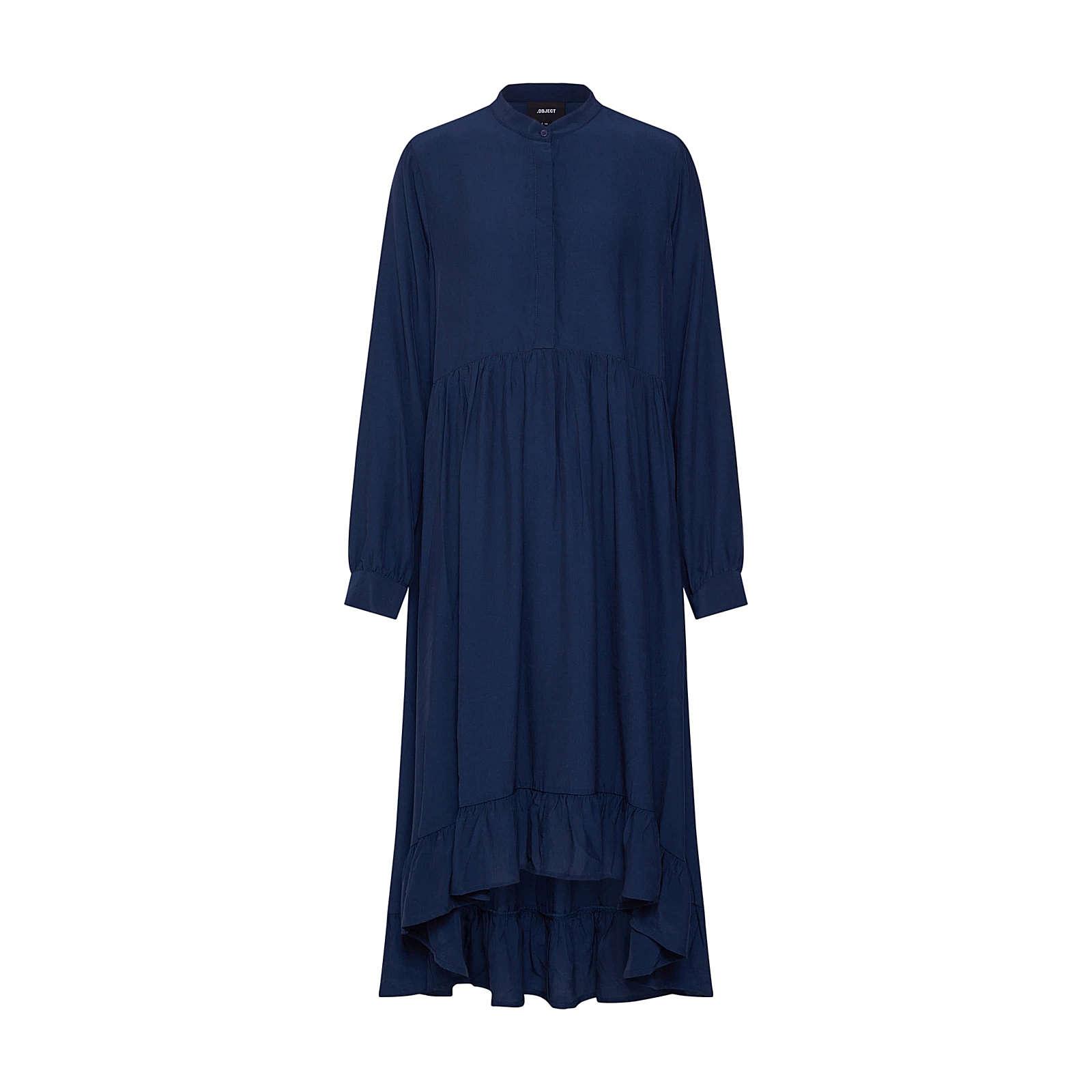 OBJECT Blusenkleid Blusenkleider blau Damen Gr. 40