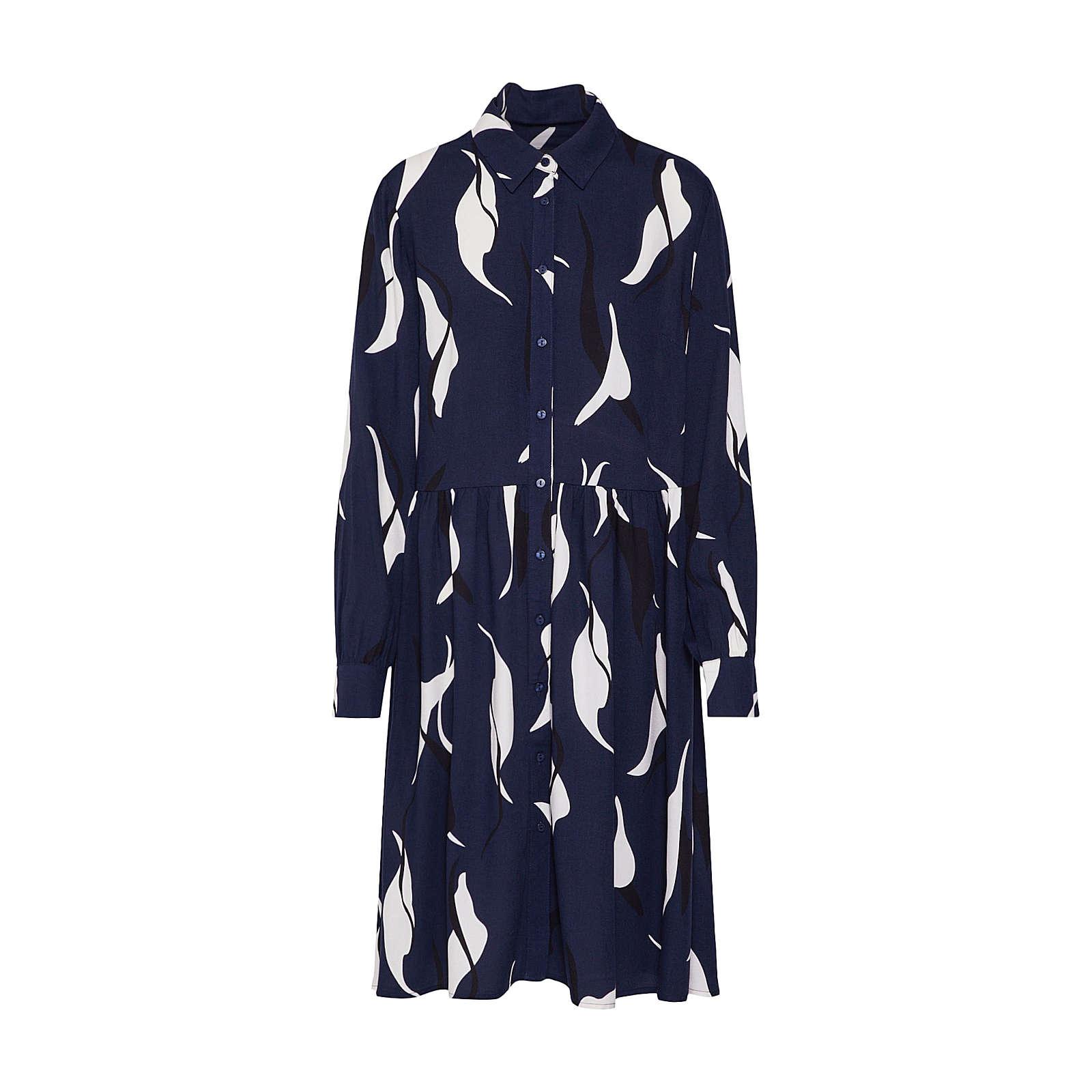 OBJECT Blusenkleid Blusenkleider blau Damen Gr. 38