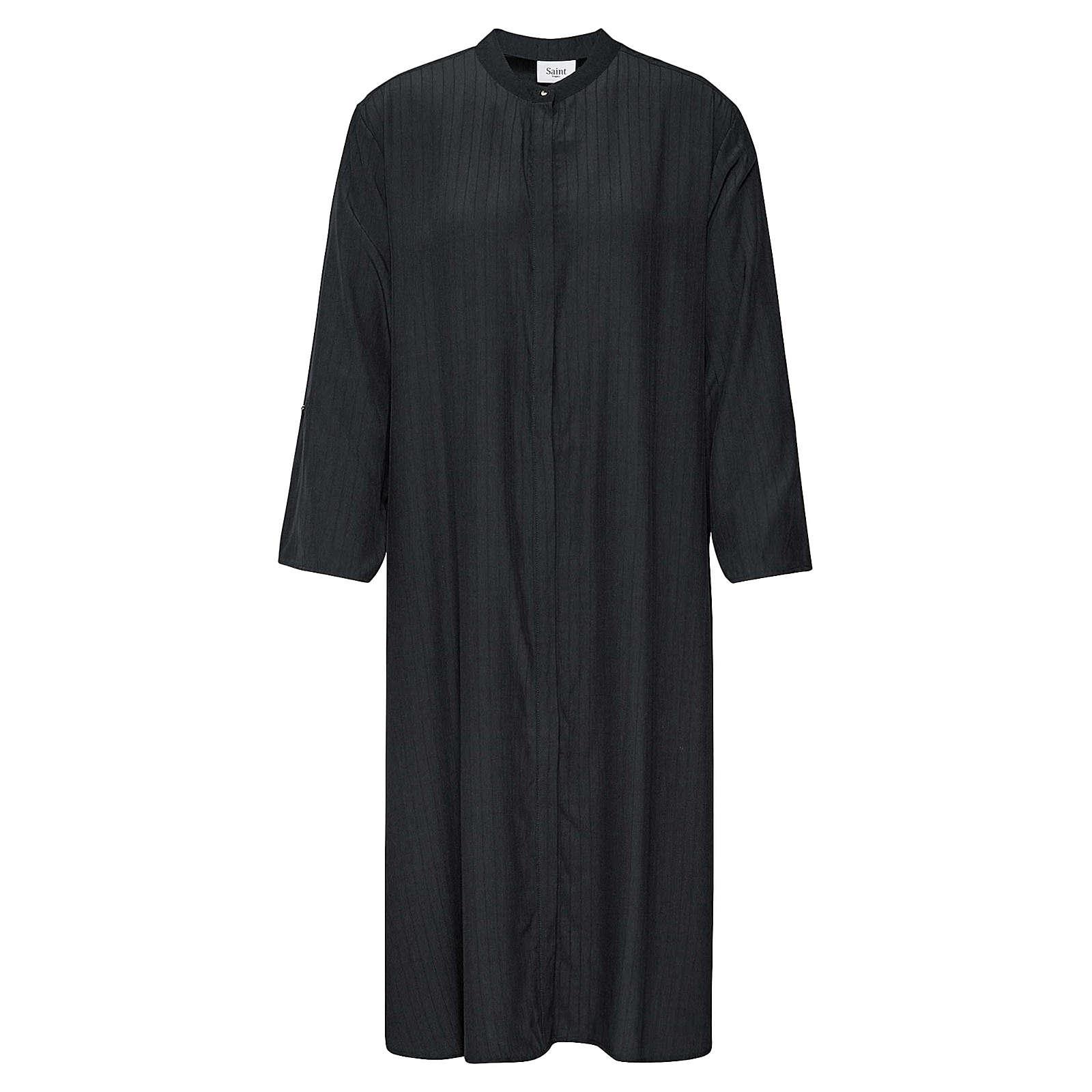 SAINT TROPEZ Blusenkleid WOVEN UNDER Blusenkleider schwarz Damen Gr. 40