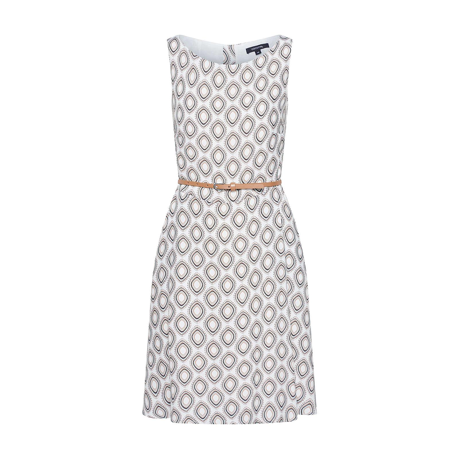 COMMA Sommerkleid Sommerkleider weiß Damen Gr. 34