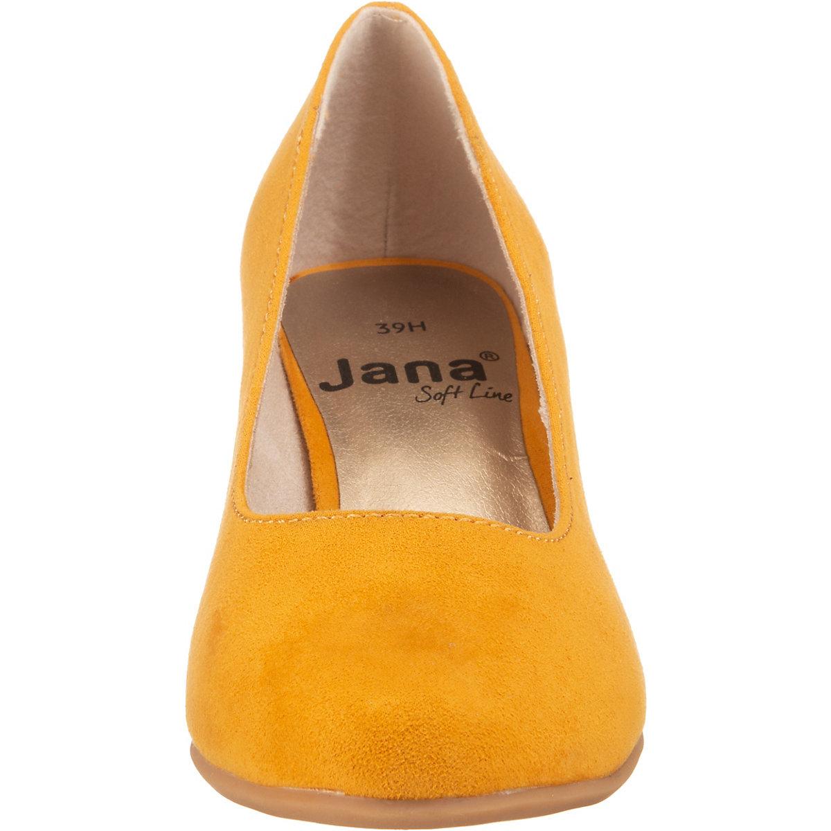 Jana, Klassische Pumps, gelb