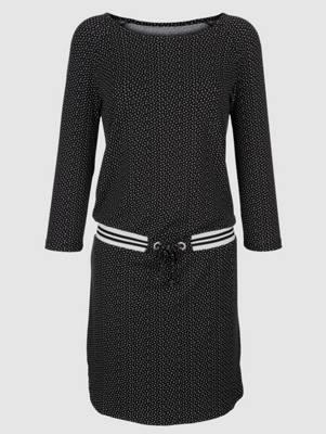 279 NEU 44 und 50 Schwarz Ton mit Spitze mit Pailletten Sheego Kleid Gr