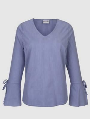 Gr Streifen Tunika Bluse in hellblau weiß gestreift von Corley 46