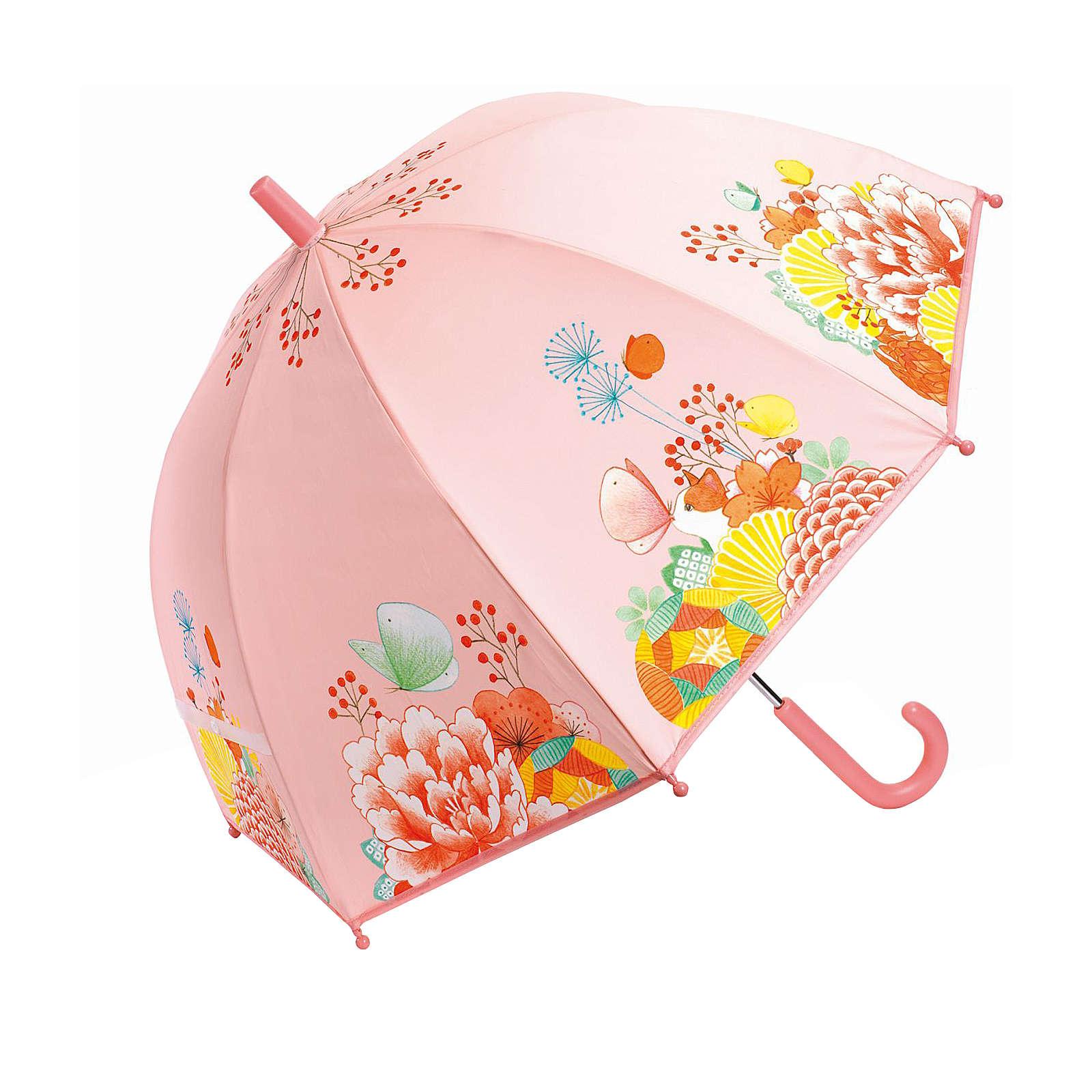 DJECO Kinderschirm Blumengarten rosa Mädchen