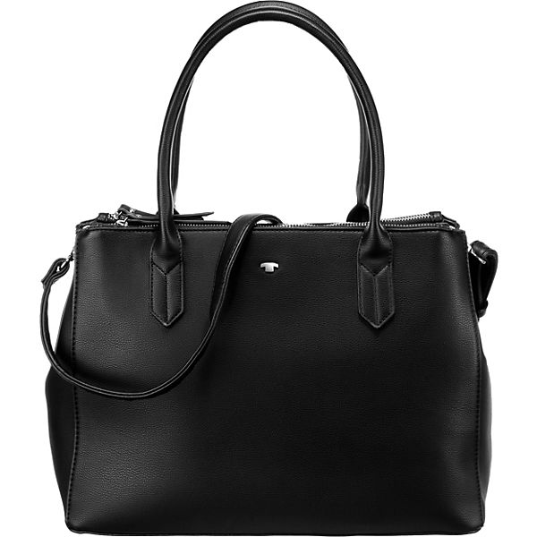 Roma Shopper, Zip Shopper M Black Handtasche