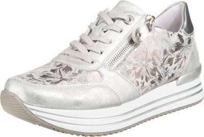 remonte, D1300 Sneakers Low, silber kombi
