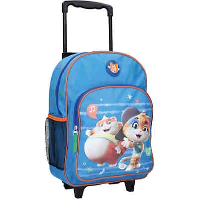 Trolleyrucksack 44 Cats blau