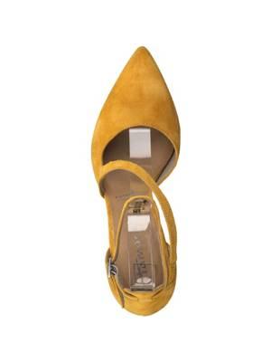 Tamaris Pumps Lycoris Gelb Trichterabsatz Damen Schuhe Synthetik Kunststoff ungefüttert MVRQGCOXL