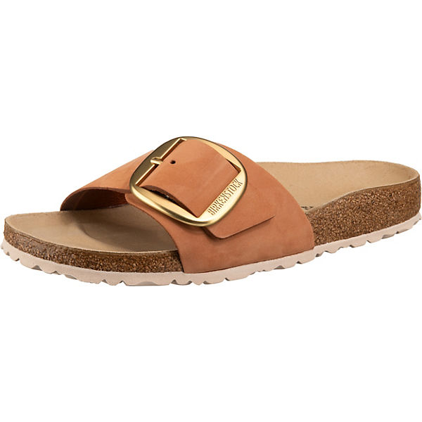 Madrid Nubuck Big Buckle Komfort-Pantoletten