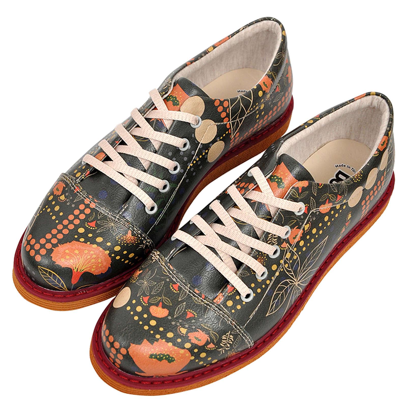 Dogo Shoes DOGO Broke's Dots&leaves Schnürschuhe schwarz Damen Gr. 36