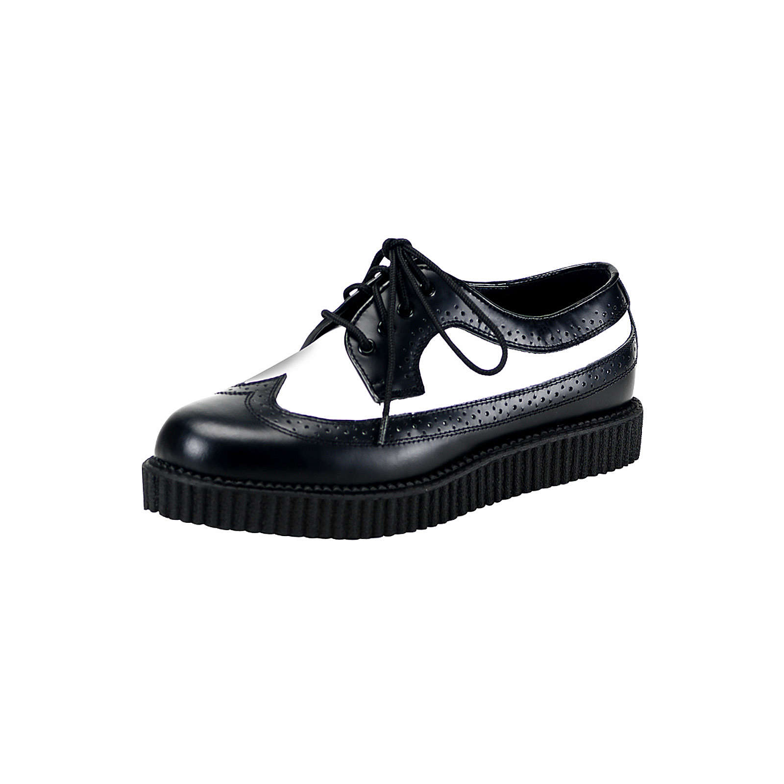 Schnürer Creeper Schnürschuhe schwarz Modell 2 Damen Gr. 41