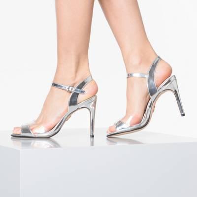 BUFFALO, Jade Riemchensandaletten, silber   Sandaletten für Damen