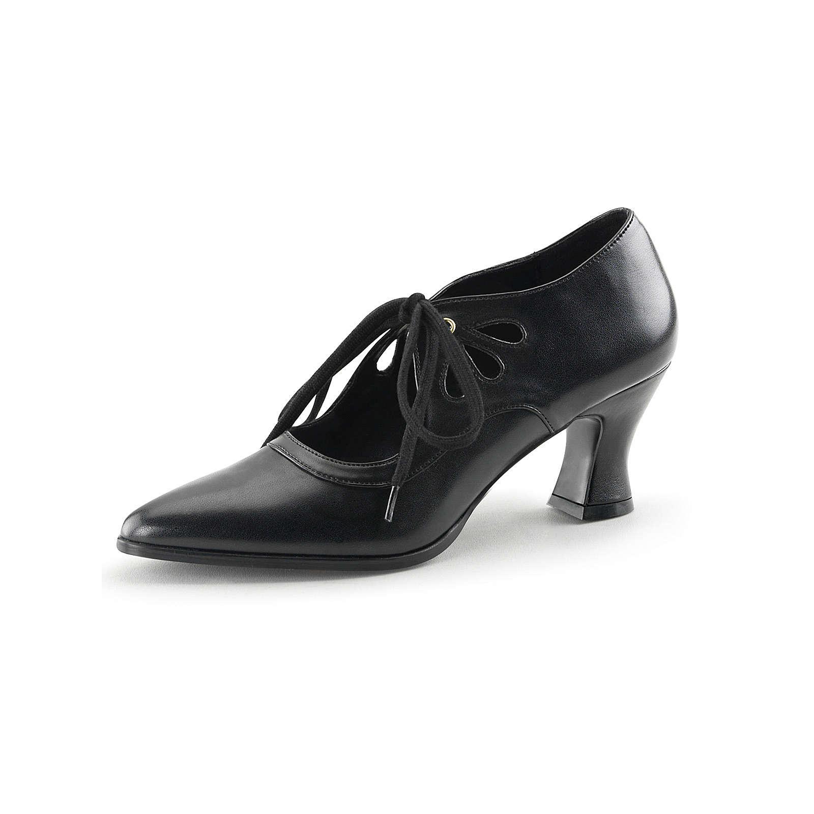FUNTASMA® Kostümschuhe Viktorianisch Victorian Schnürpumps schwarz Damen Gr. 36