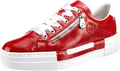 rieker, Rieker Damen Sneaker Glattleder in rot N5320 35 Sneakers Low, rot