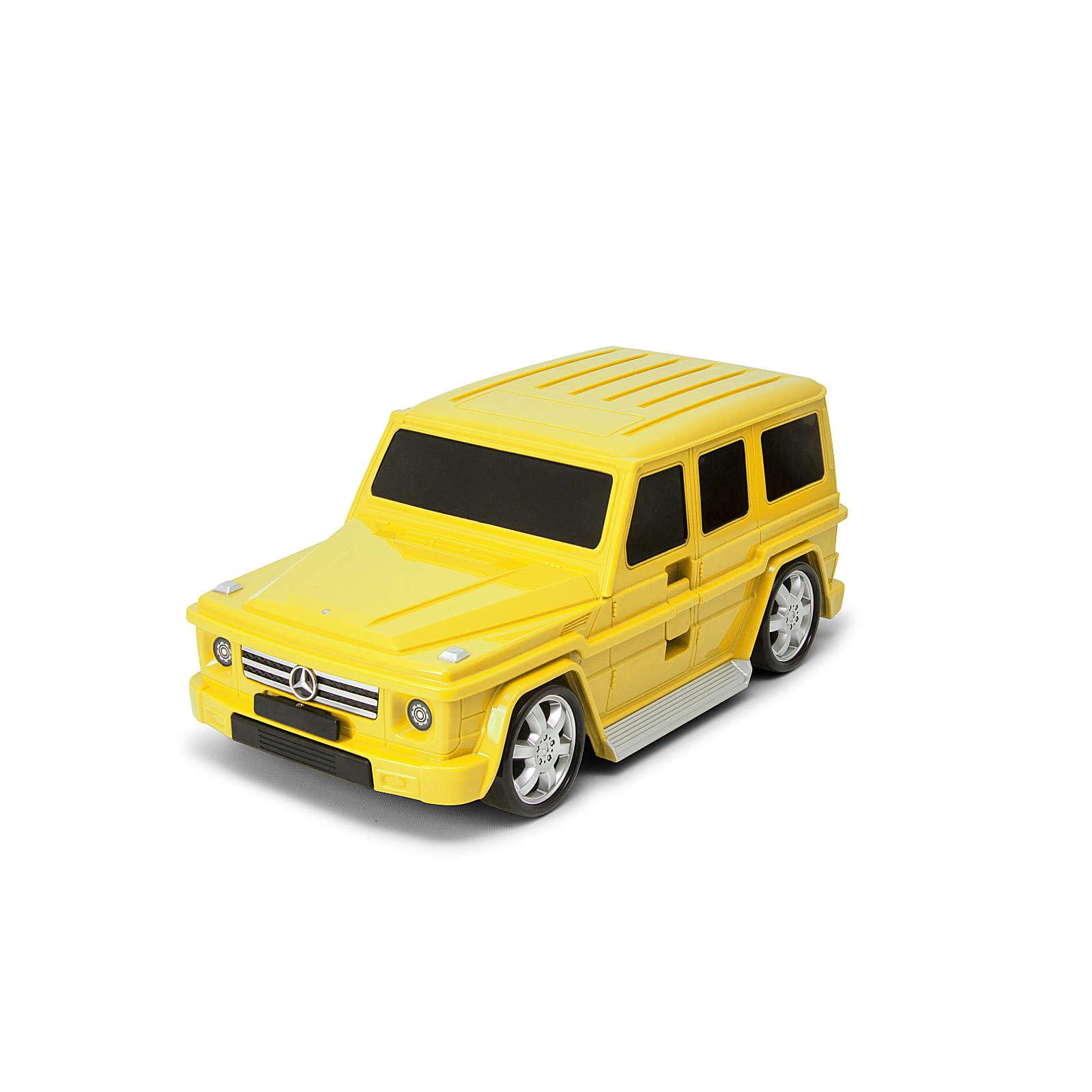 Packenger Kinderkoffer Kinderauto Kindertrolley G63 gelb