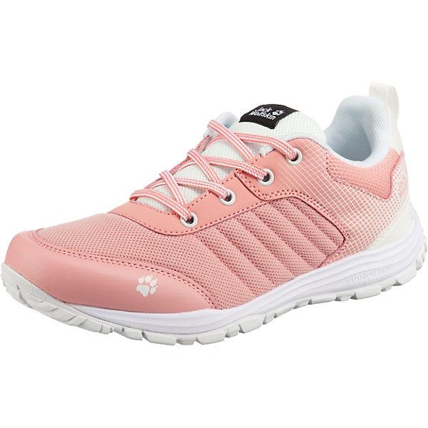 Gutes Angebot Jack Wolfskin Sneakers Low CASCADE LOW K für Mädchen rosa/weiß