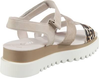Gabor, Keilsandaletten, hellgrau | Sandaletten für Damen