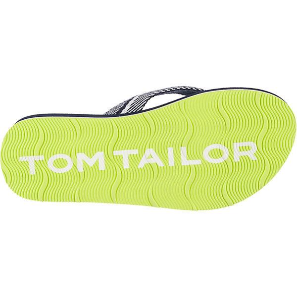 Gutes Angebot TOM TAILOR  Zehentrenner für Jungen  blau/gelb