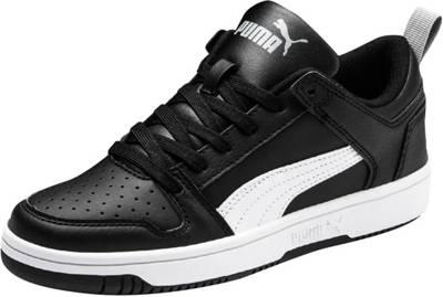 PUMA, Sneakers Rebound Layup Lo SL Jr für Jungen, schwarzweiß