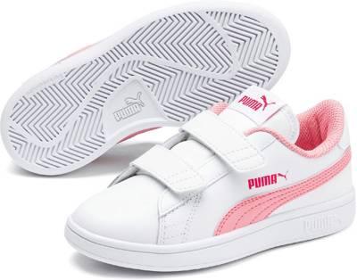 PUMA, Sneakers Smash v2 L V PS für Kinder, weiß | mirapodo
