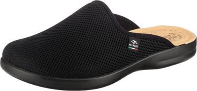 Supersoft Herren Hausschuhe klassische Filz Pantoffeln schwarz Gummisohle NEU
