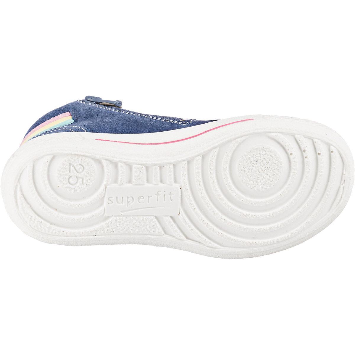 Superfit, Sneaker High Tensy Für Mädchen, Wms-weite M4, Blau