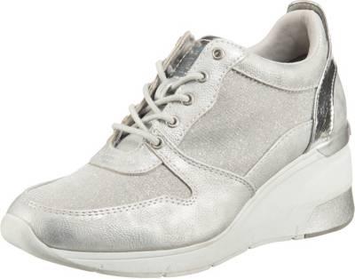 Silberne Sneaker für Damen