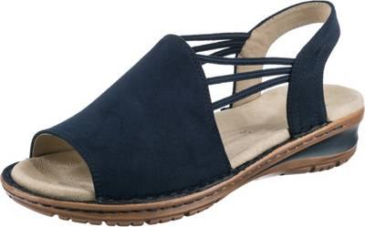 ara, Hawaii Komfort Sandalen, blau