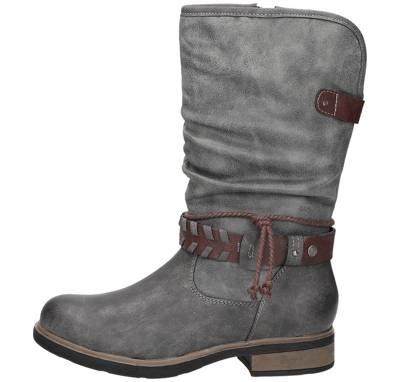 Wattierter Stiefel Grau für Damen von TAMARIS Stiefel