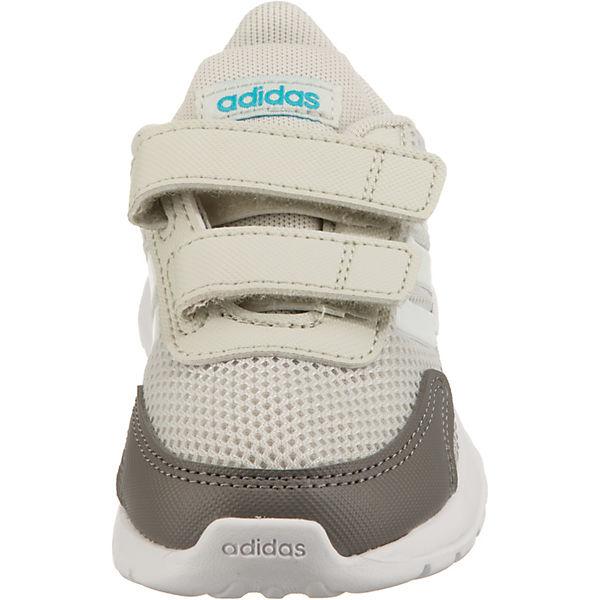 Gutes Angebot adidas Performance  Baby Sportschuhe TENSAUR RUN für Jungen  hellgrau