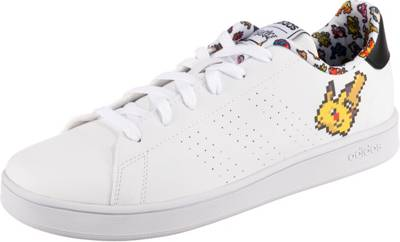 adidas Sport Inspired, Kinder Sneakers Low ADVANTAGE, weiß Modell 3