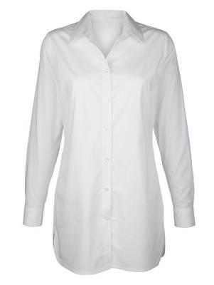 Dress In Blusenjacke mit Stickerei khaki langarm Baumwolle uni Damen
