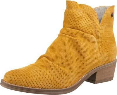 Tamaris, Klassische Stiefeletten, gelb