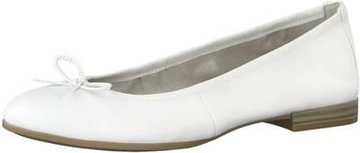 Tamaris, Klassische Ballerinas, weiß