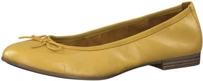 Tamaris, Klassische Ballerinas, gelb