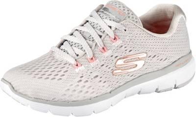 SKECHERS, Flex Appeal 3.0 Metal Works Sneakers Low, weiß