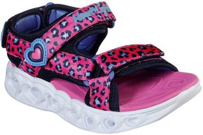 SKECHERS, Sandalen Blinkies Heart Lights Sandals Savvy C für Mädchen, pink