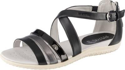 GEOX, Vega Komfort Sandalen, schwarz