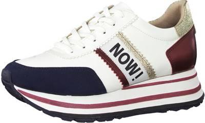 Tamaris, Sneakers Low, weiß kombi