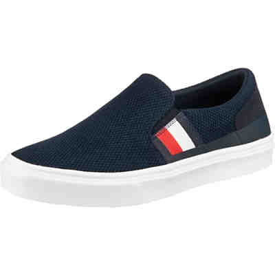 Lightweight Stripes Knit Slip On Klassische Slipper