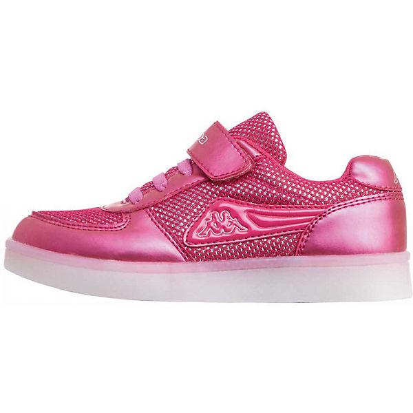Gutes Angebot Kappa Sneakers Low mit Blinkies FORE für Mädchen rosa