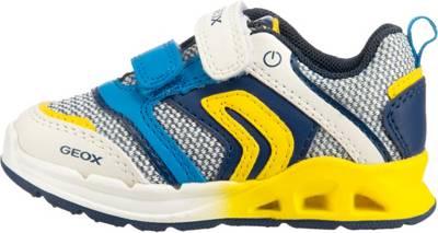 GEOX, Baby Sneakers Low Blinkies TODO für Jungen, blaugrün