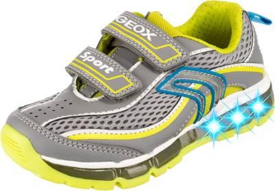 GEOX, Sneakers Low Blinkies ANDROID für Jungen, graugrün