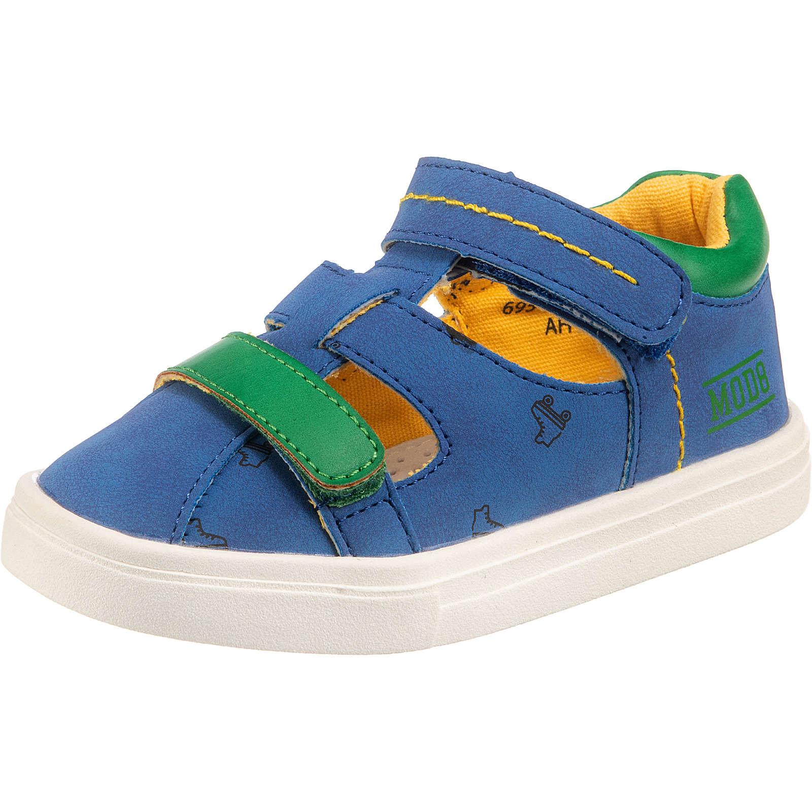 MOD8 Baby Halbschuhe PAULO für Jungen blau/grün Junge Gr. 29
