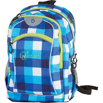 Freizeitrucksack Night Vision LED Blue/White