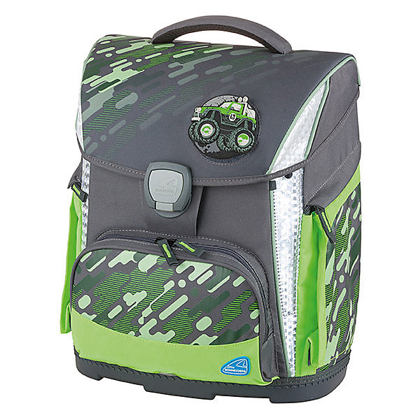 Schulranzenset TOOLBAG PLUS Camo Olive, 4-tlg., inkl. Patches (2020/2021)