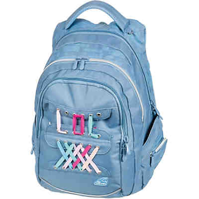 Schulrucksack FAME Laces light blue
