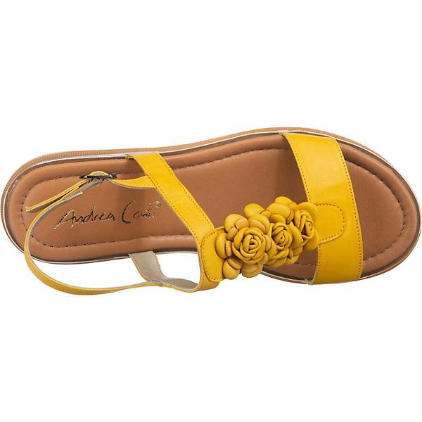 Andrea Conti  Klassische Sandalen  gelb