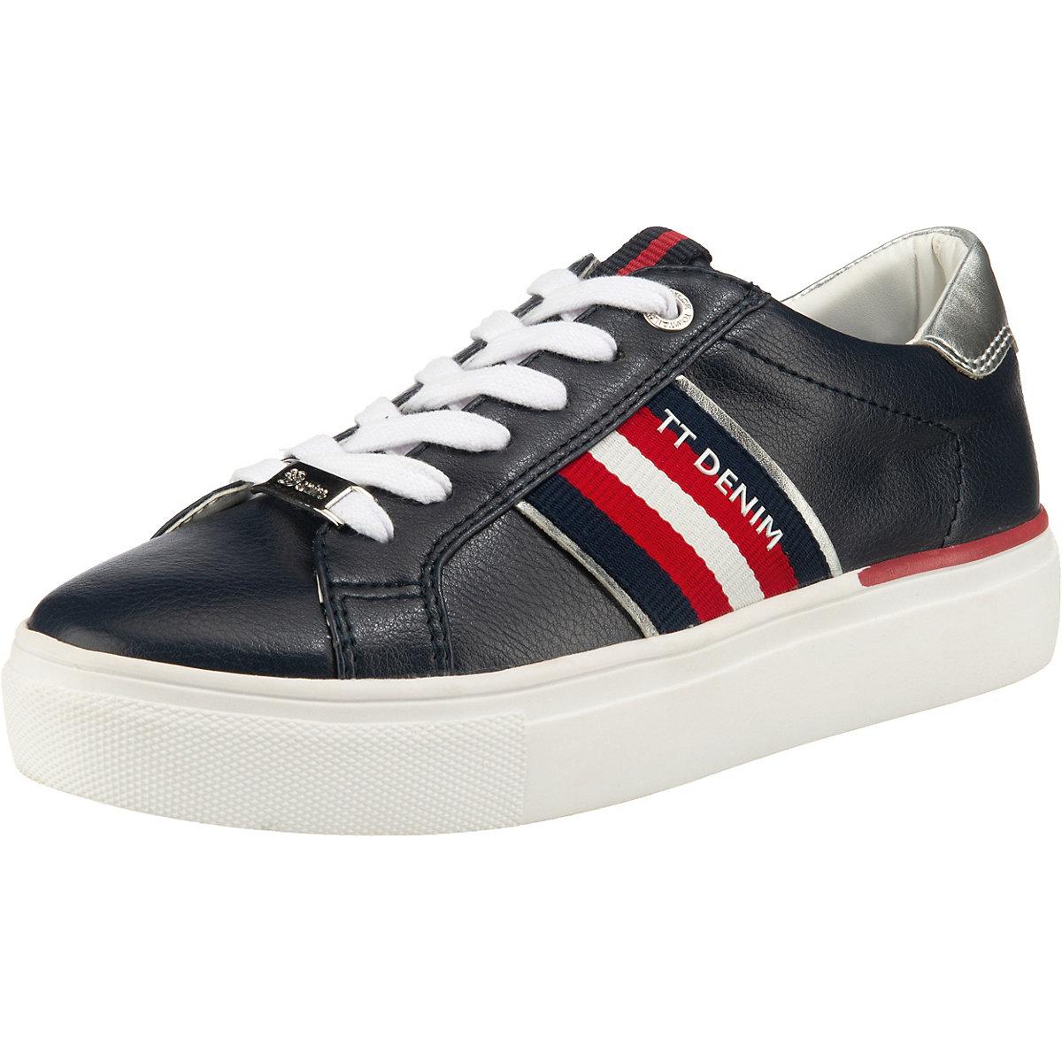 TOM TAILOR, Sneakers Low, dunkelblau